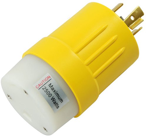 Conntek RV Generator Adapter L14-20P 20A 125/250V Locking Plug to RV 30A Female Connector by Conntek