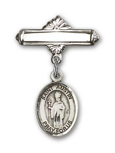 Icecarats Créatrice De Bijoux En Argent Sterling St. Charme Austin Broche De Badge 1 X 5/8