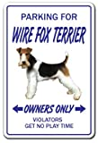 [SignJoker] WIRE FOX TERRIER ~Novelty Sign~ dog pet parking signs Wall Plaque Decoration