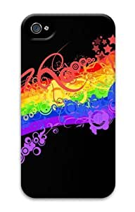 Abstract Rainbow PC For Apple Iphone 4/4S Case Cover