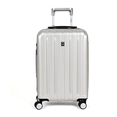 Delsey Luggage Helium Titanium Carry-On EXP Spinner Trolley, Silver, One Size
