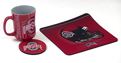 Ohio State Computer Workstation Set Includes Coffee Mug, Neoprene Mouse pad and Coaster. (Pad Mouse Coffee Mug)