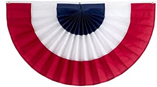 product image for Independence Bunting – 2' x 4' American Made Cotton Flag Bunting. Fully Sewn 3 Stripe Red, White & Blue Patriotic Bunting Banner!