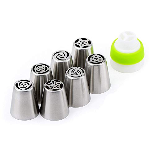 Russian Icing Piping Nozzle Set Cake Decorating Tool Extra Large Buttercream Flower Leaves Complete Bakeware Moods Cupcake Decoration Stainless Steel Tool