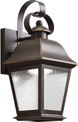 (Kichler 9707OZLED, Mount Vernon Cast Aluminum Outdoor Wall Sconce Lighting LED, Olde Bronze)