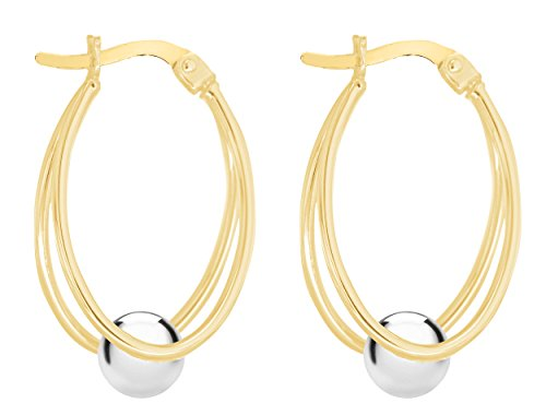 Carissima Gold - Boucles d'oreille - 375/1000 - Or bicolore - Femme