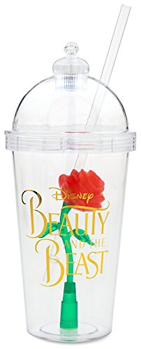 2017 Disney Parks Beauty and the Beast Enchanted Rose Light Up Sipper Cup