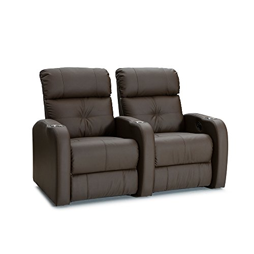(Palliser Terra Polyurethane Home Theater Seating Leather Manual Recline - (Row of 2,)