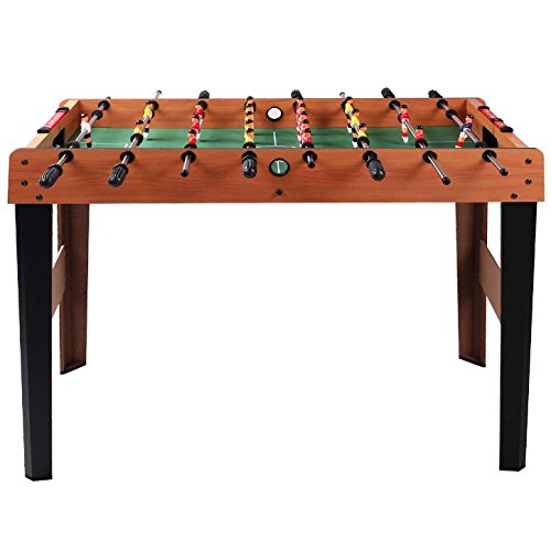 45'' Foosball Soccer Table Kick-Off Football Table Indoor Arcade Room Competition Sports Game Kids Children Holiday Season Birthday Wooden Construction Strong Steel Rods