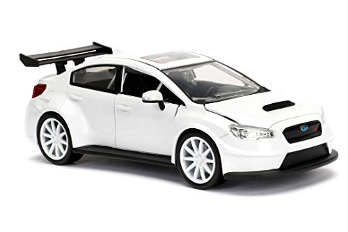 Jada Toys Fast & Furious 1:24 Mr. Little Nobody's Subaru WRX STI Die-cast Car, Toys for Kids and Adults, White (98296) 6