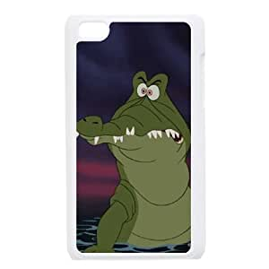 iPod Touch 4 Case White Disney Peter Pan Character The Crocodile (Tick Tock)