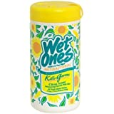 Wet Ones Antibacterial Hand Face Wipes, Citrus, Canisters, 40 Ea, (Pack of 6)