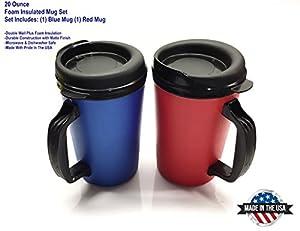 Amazon.com: 2 ThermoServ Foam Insulated Coffee Mug 20 oz w