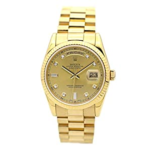 Best Epic Trends 418KKLbu2uL._SS300_ ROLEX DAY-DATE PRESIDENT 36MM YELLOW GOLD WATCH WITH DIAMOND DIAL FLUTED 118238