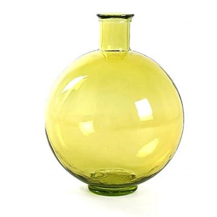 MOAI home & garden Botella de Vidrio Color Lila