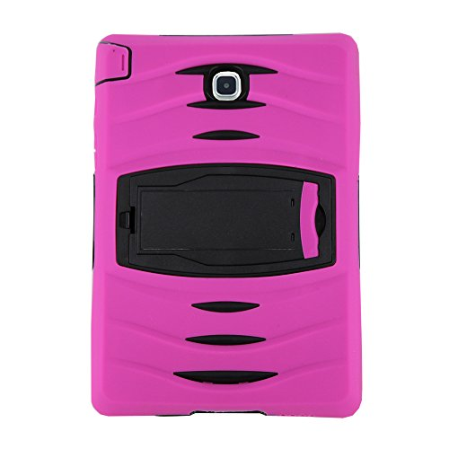 Galaxy Tab A 10.1 Case by KIQ TM Full-body Shock Proof Hybrid Heavy Duty Armor Protective Case for Samsung Galaxy Tab A 10.1 [SM-T580] with Kickstand and Screen Protector (Armor Hot Pink) by KIQ