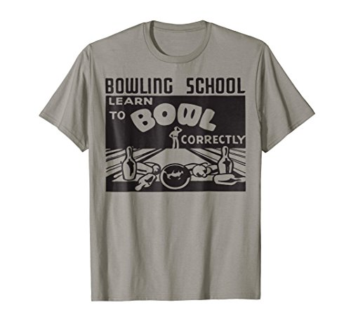 Bowling School Learn to Bowl Shirt Retro Classic Bowling Tee