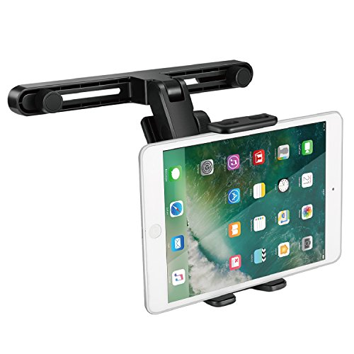 TNP Car Seat Headrest Tablet Phone Holder, Rotatable Bracket Mount with Adjustable Clamp for Apple iPad Pro Air Mini Surface Go iPhone Xs/Xs Max/X / Samsung Galaxy Note 9 / ()