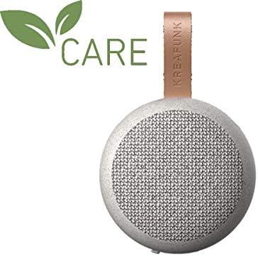 KREAFUNK CARE Serie: Bluetooth-Speaker aGO, recycelte Materialien, grau meliert, Textilfront
