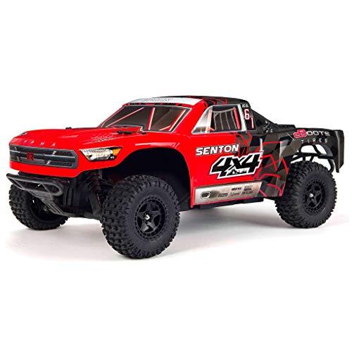 ARRMA 1/10 SENTON MEGA 4X4 RC Stadium Truck 4WD RTR with 2.4GHz Spektrum Radio, 7C 2400mAh NiMH Battery and Charger, Red/Black (ARA102715T1)