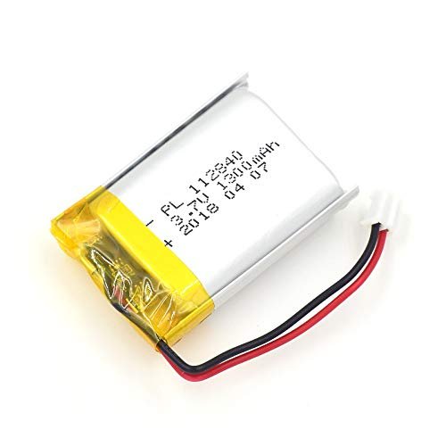 (YDL 3.7V 1300mAh 112840 Lipo battery Rechargeable Lithium Polymer ion Battery Pack with JST Connector)