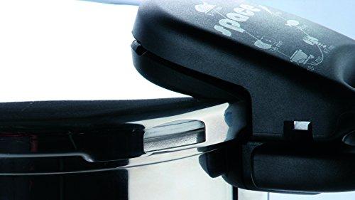ALZA Autocuiseur 8/L Cuisson tr/ès Rapide avec anses Courtes pour Rangement Facile