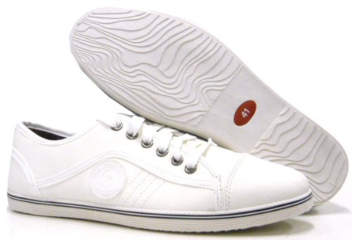 Sportliche Herren Schuhe Freizeit Sneaker Weiß
