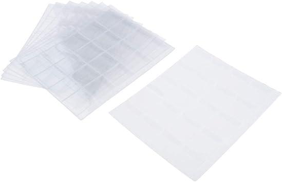 Paquete de 10 Carpetas de 20 Bolsillos para Colección de ÁLbum Portador de Carpeta de Sellos Pra Coleccionista: Amazon.es: Juguetes y juegos