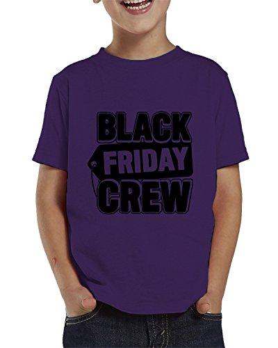Black Friday Crew Toddler T-Shirt, SpiritForged Apparel Purple 4T