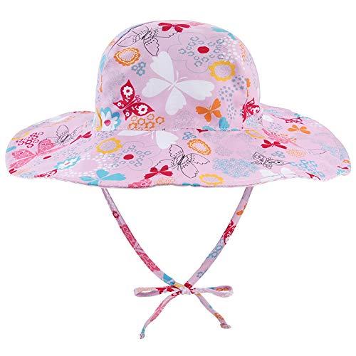 3f25ccf1917737 Baby Sun Hat Wide Brim - Double Sides Adjustable Toddler Sun Hat UPF 50+  Child