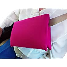 Deluxe Mastectomy Lumpectomy Cushion Seat Belt Chemo Port Surgery Breast Cancer Gift Fushia Pink with Inspirational Magnet by Sending Comfort TM
