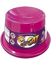COMEDOURO PLAST. GATO SUPER CAT - 200 ML (ROSA)