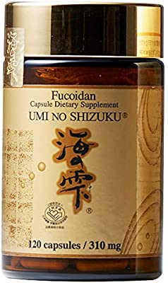 Umi No Shizuku Fucoidan Capsule Pure Seaweed Extract Enhanced with Agaricus Mushroom Optimized Immune Support Health Supplement-120 Capsules