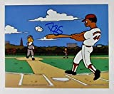 Autographed Darryl Strawberry Photograph - 8x10 Simpsons Homer At The Bat Episode - Autographed MLB Photos