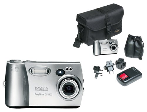 Kodak EasyShare DX4900 4MP Digital Camera w/ 2x Optical Zoom and Travel Kit Value Pack