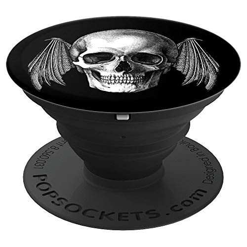 (Blackcraft Skull Head whit Bat Wings Dead Inside - PopSockets Grip and Stand for Phones and Tablets)