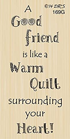 Good Friend Warm Quilt Greeting Rubber Stamp By DRS Designs - Products Rubber Stamp