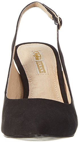 Buffalo Women's H733c-117 S0003a IMI Suede Closed Toe Heels Black (Black 01) X5GSGoGPN