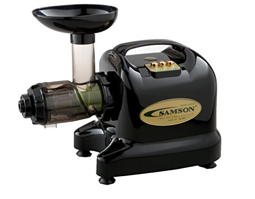 Samson 6-1 Single Auger Wheatgrass & Multi Purpose Juicer - Model GB9002 - BLACK