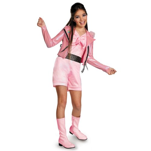 [Disguise Disney Teen Beach Movie Lela Biker Deluxe Girls Costume, 10-12] (Biker Kid Costume)