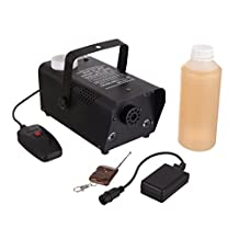 RockJam SM-04 Fog Machine Super Kit Fog Machine with Built-in Multicolored Light Projector, One Litre of Fog Fluid, One Wired and One Wireless Remote