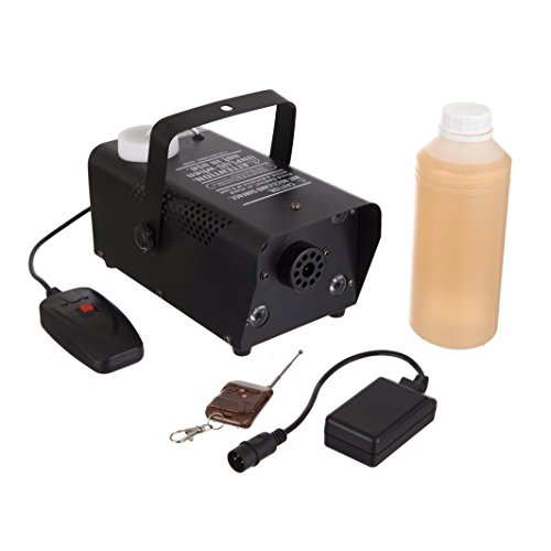 [RockJam Fog Machine SuperKit with Multicolored Light Projector, 1 Liter of Fog Liquid, 1 Wireless and Wired] (Party Fog Machine)