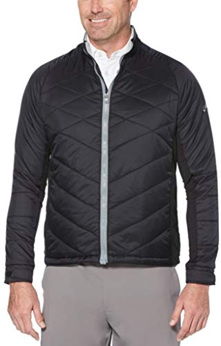 (Callaway Men's Thermal Performance Quilted Golf Jacket, Caviar, Medium)