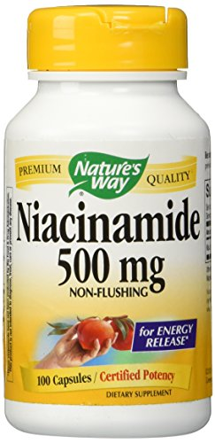 Nature's Way Niacinamide 500mg Non-flushing for Energy Release, 100 Capsules, 100 - Flushing Stores