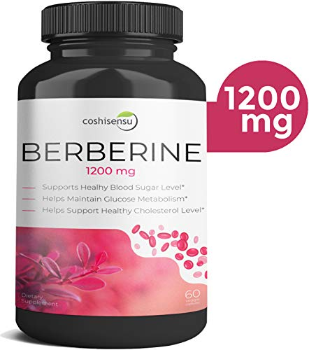 Berberine HCI 1200mg  Premium Diabetes Berberine Supplements  60 Capsules Maximum Strength HCI