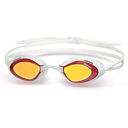 Head Stealth LSR - Lunettes de Natation Verres Miroirs White/Red
