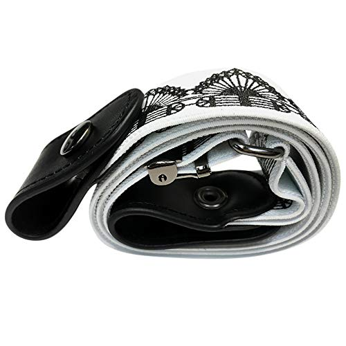 - Men Women Buckle-Free Invisible Elastic Slim Belt for Jeans No Bulge Hassle-Lazy Belt White