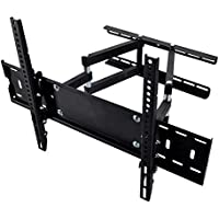 Happyjoy Dual Articulating Arm TV Wall Mount Bracket for 30-65 Samsung Sony LG TVs Screen up to VESA 600x400mm and Super Strong 132lbs Fits 16 Studs Wall