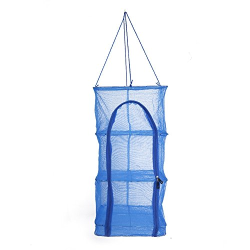 Foldable 4 Layers Vegetable Fish Dishes Mesh Hanging Drying