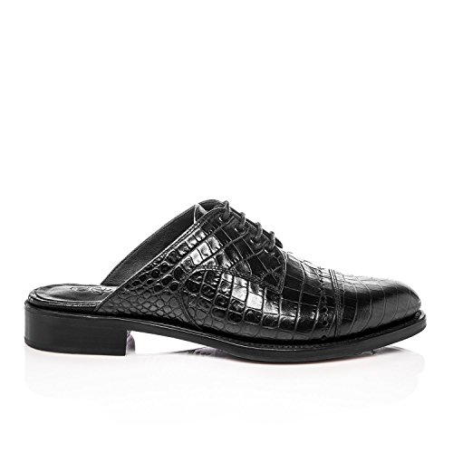 Lufficio Di Angela Scott Mr. Winnie Nero In Pelle Di Coccodrillo Nero Croc Croc